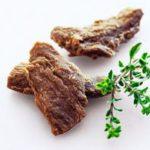 Cienkie plastry mięsa