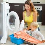 Ubranka dziecięce w pralce