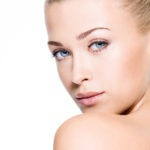 Beauty skin of a female face - isolated